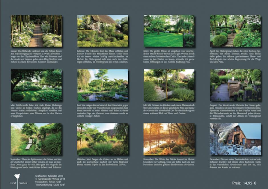 grafgarten, grafgarten kalender 2019 | sprangsrade verlag, Design ideen